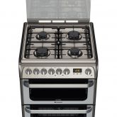 Hotpoint HUD61X 60Cm Dual Fuel Cooker