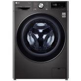LG F6V1009BTSE 9Kg Washing Machine - Black Steel