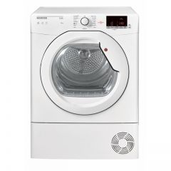 Hoover HLC8DG Link with one touch, 8kg, condenser, sensor, white with white glass door, B energy rat