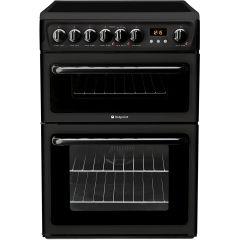 Hotpoint HAE60KS 60Cm Freestanding Cooker Double Oven With Ceramic Hob