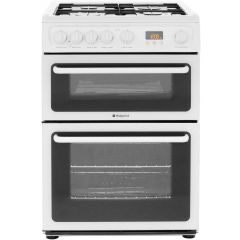 Hotpoint HAG60P 60Cm Freestanding Gas Cooker With Double Oven