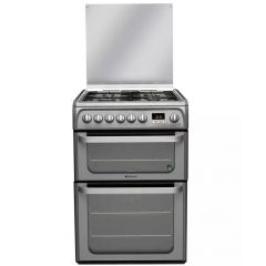 Hotpoint HUD61G 60Cm Dual Fuel Double Cooker With Gas Hob