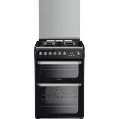 Hotpoint HUD61K 60Cm Dual Fuel Cooker