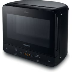 Hotpoint MWH1331B Curve, Solo Microwave, 13L, Multiwave Technology, Digital Display.