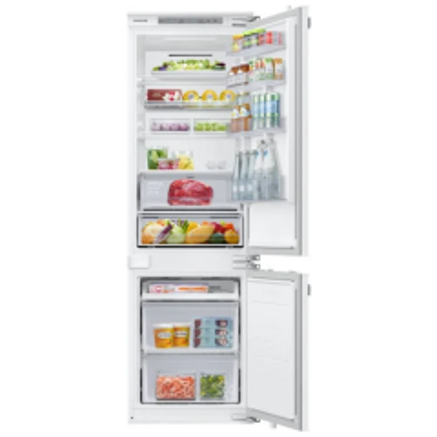 Samsung BRB26615FWW Integrated Fridge Freezer With Wine Shelf, Fixed Hinge