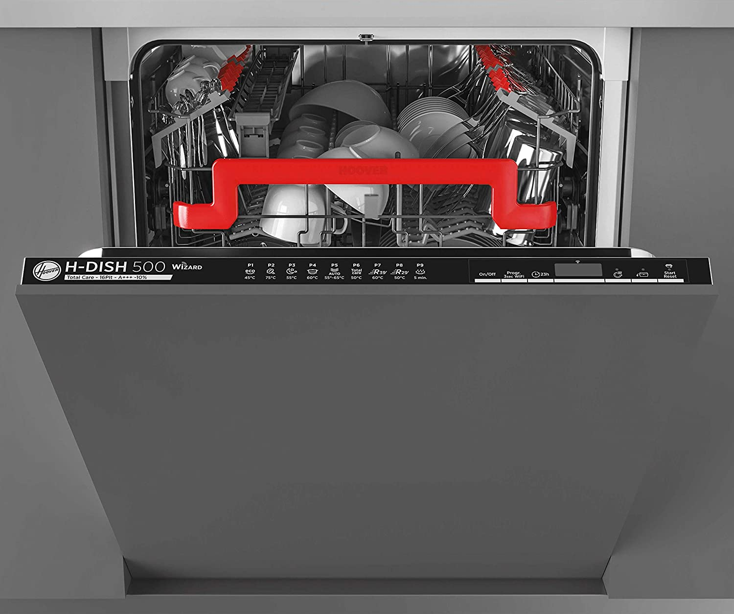 Hoover HDIN4D620PB80E Built In Fully Integrated Dishwasher, 16 Place