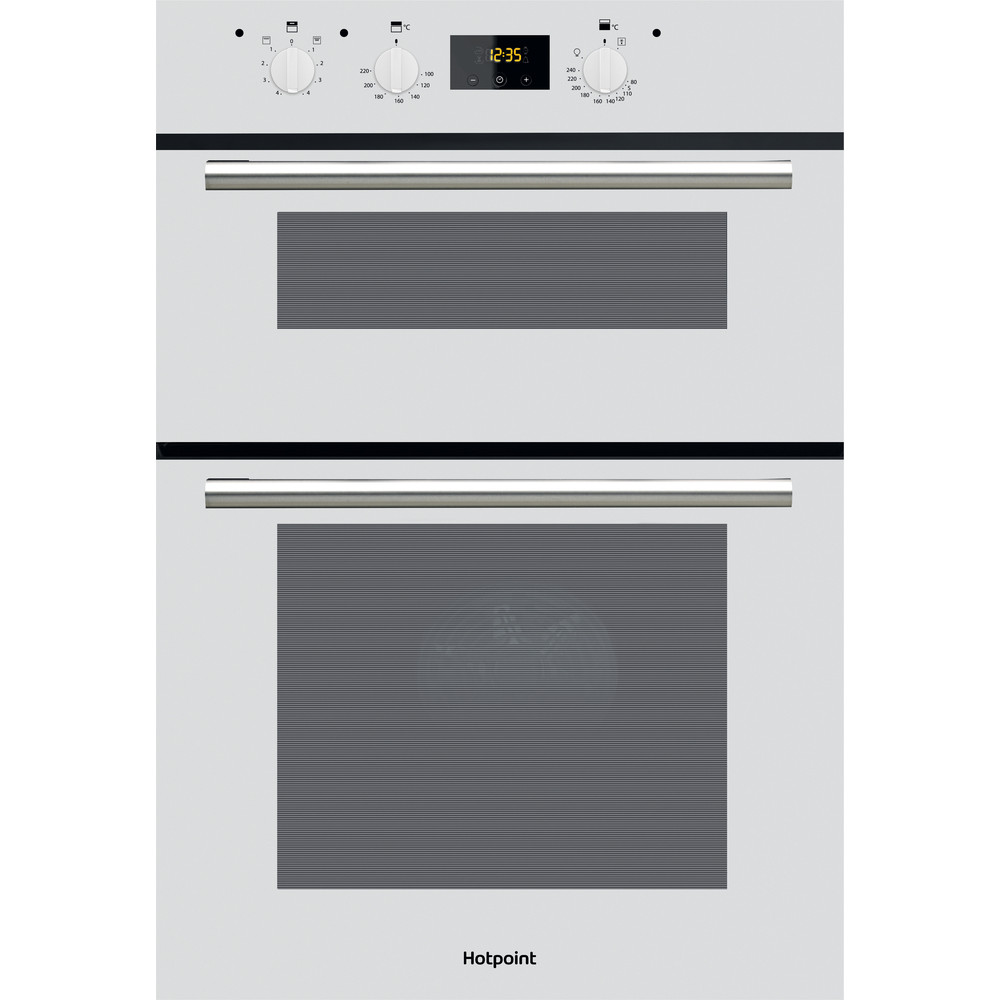 Image of Hotpoint DD2540WH Circulaire® fan 5 Func built in double oven. Electronic timer start / end cooking,