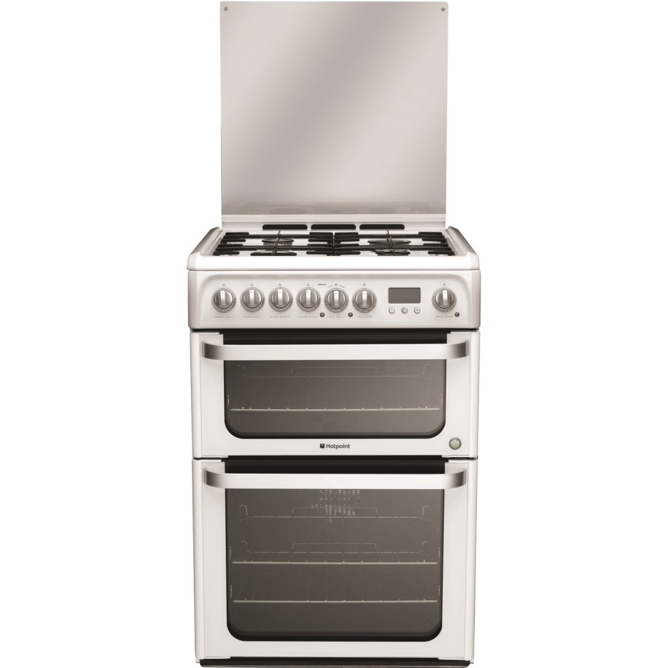 Image of Hotpoint HUD61P 60cm Dual Fuel Double ,Catalytic Liners in both Oven , Programmable Timer