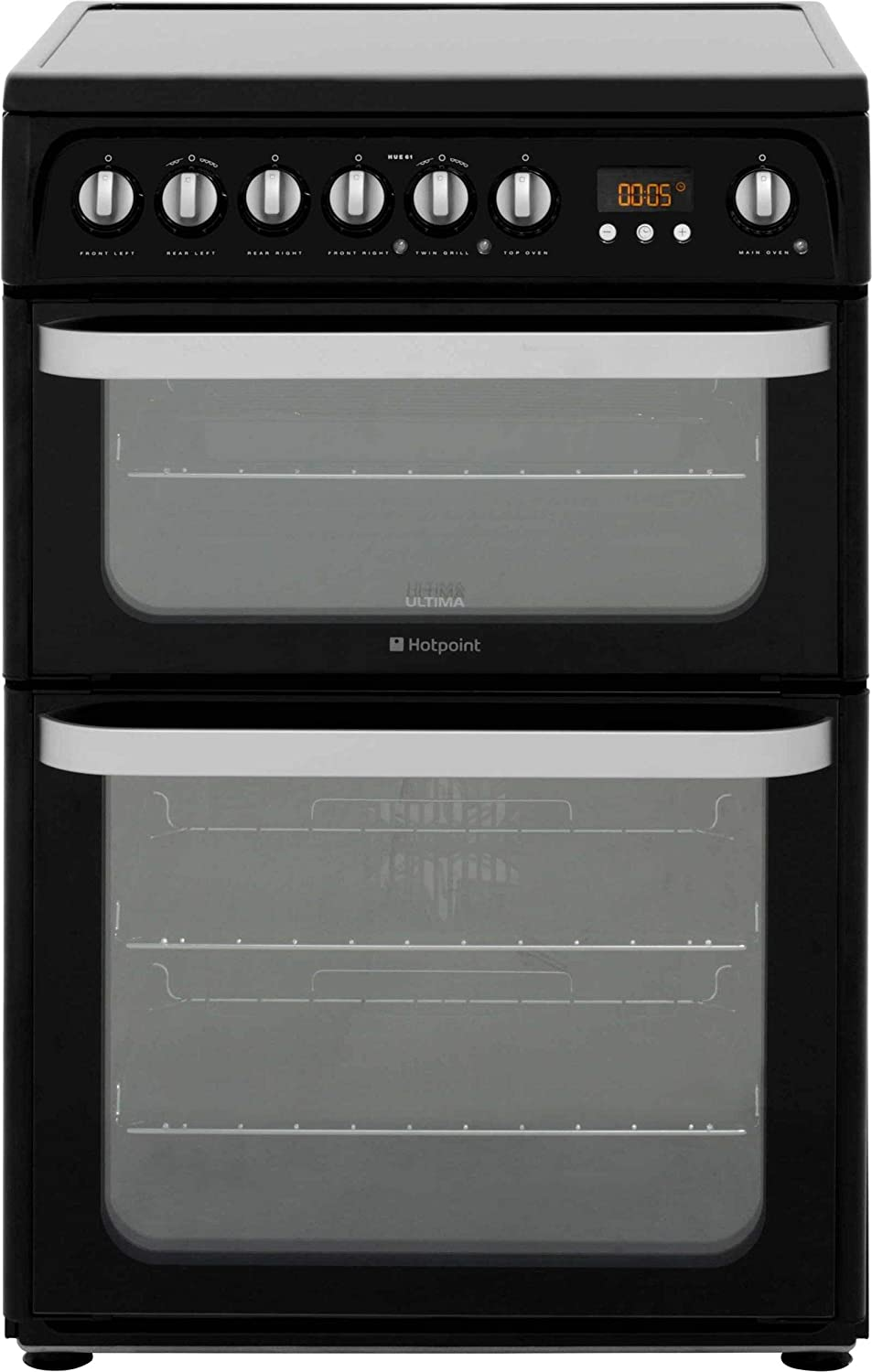 Hotpoint HUE61KS 60cm Electric Double Cooker with Ceramic Hob