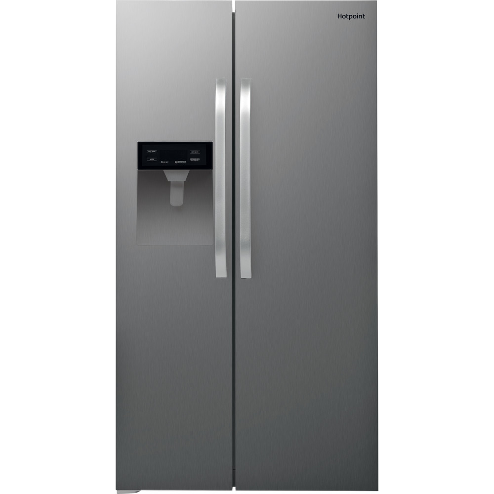Image of Hotpoint SXBHE924WD American Fridge Freezer - Inox