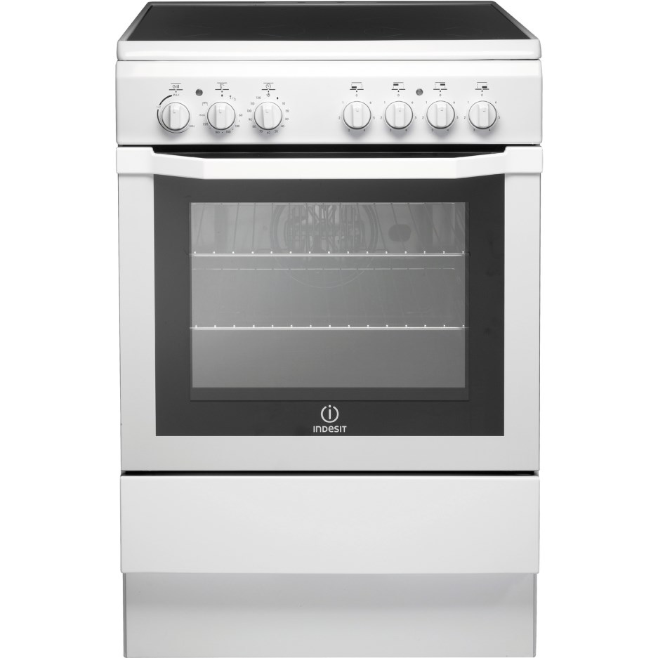 Indesit I6VV2AWUK 60cm Single Cavity Solid Plate Cooker