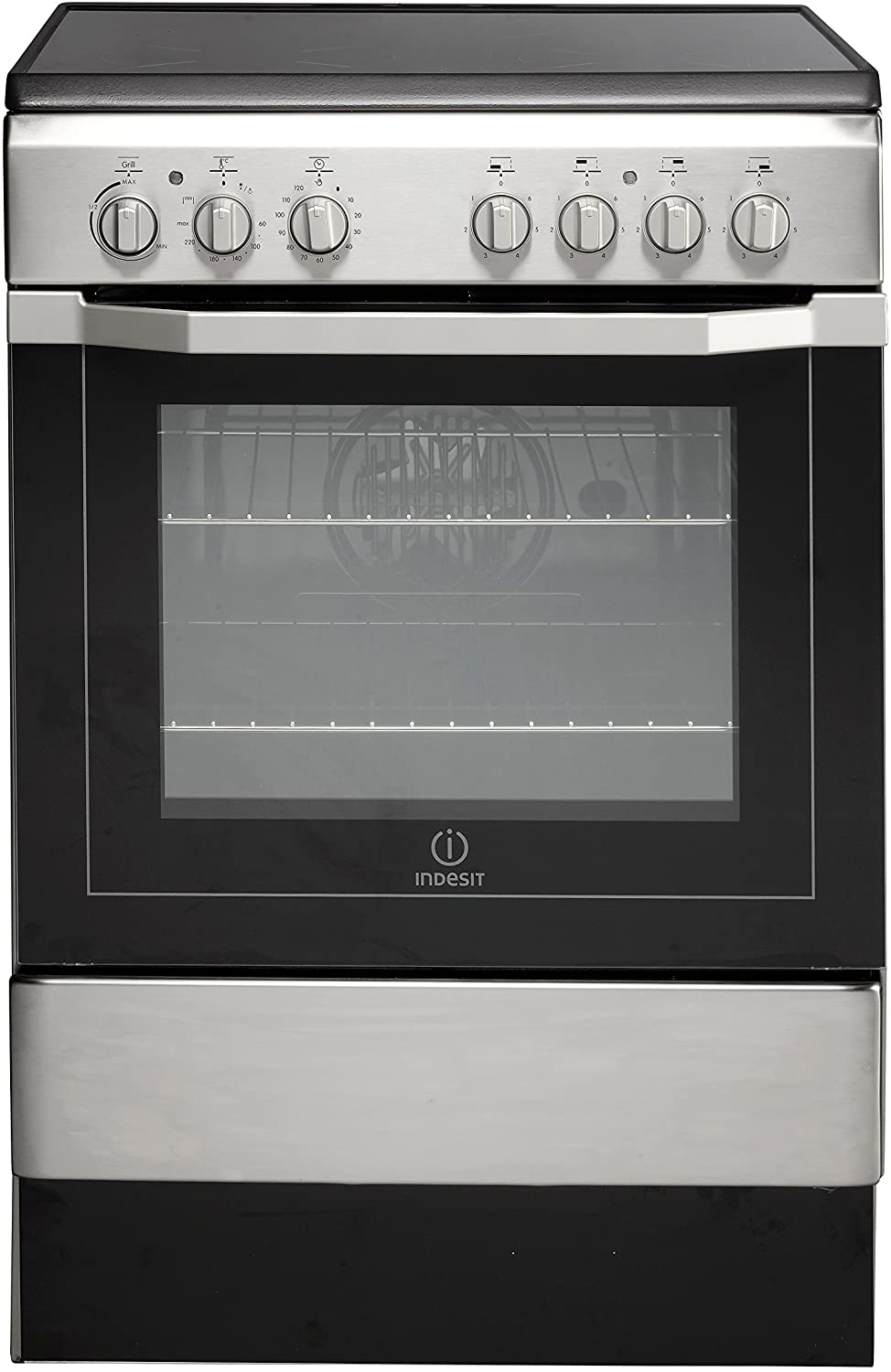 Image of Indesit I6VV2AXUK 60cm Single Oven Electric Cooker with Ceramic Hob