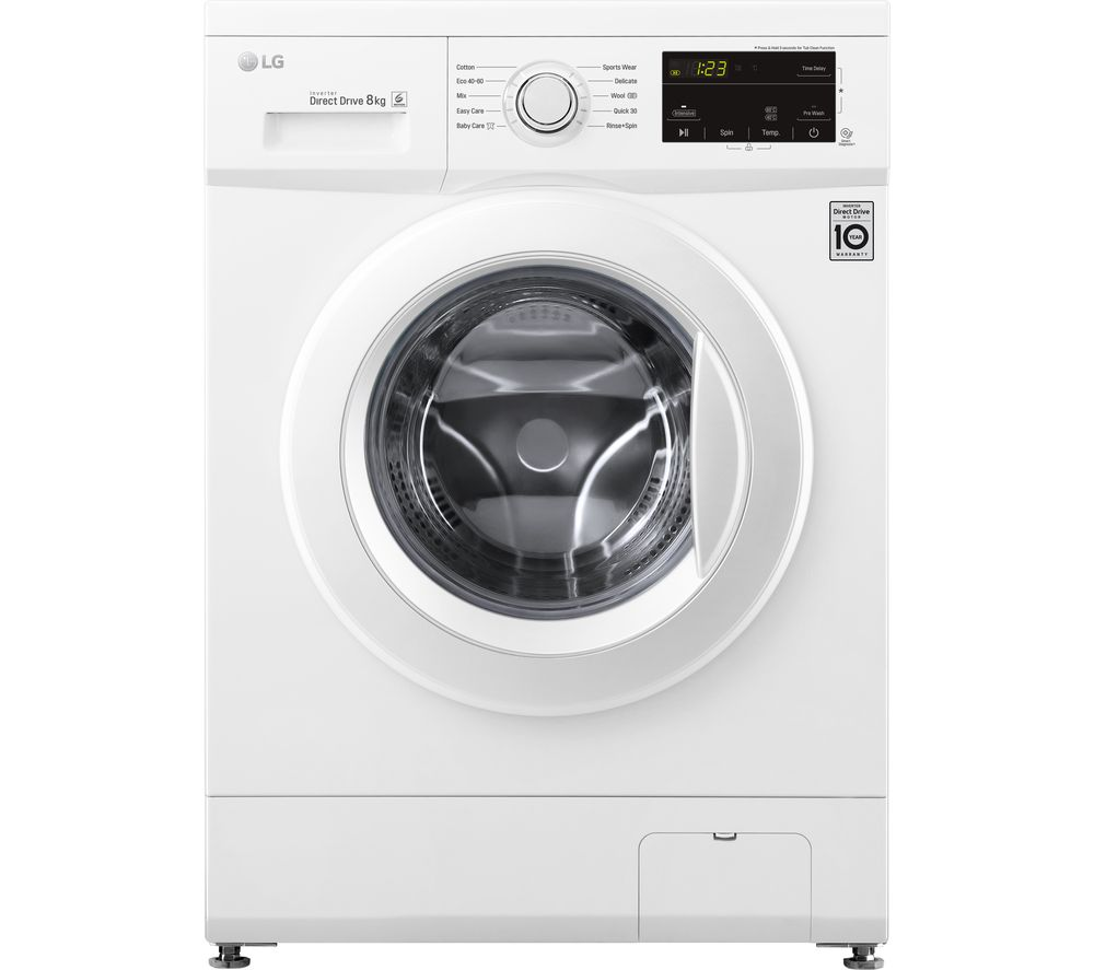 Image of LG Direct Drive F4MT08WE 8 kg 1400 Spin Washing Machine - White, White
