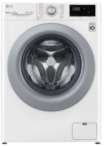 Image of LG AI DD V3 F4V309WSE 9 kg 1400 Spin Washing Machine - White, White