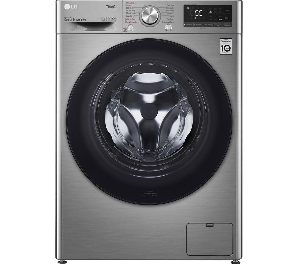 Image of LG AI DD V5 F4V509SSE WiFi-enabled 9 kg 1400 Spin Washing Machine - Graphite, Graphite