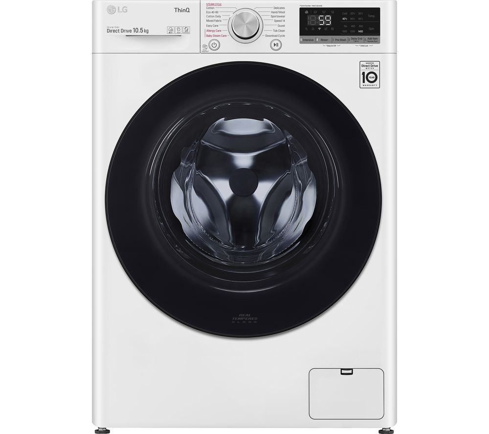 Image of LG AI DD V5 F4V510WSE WiFi-enabled 10.5 kg 1400 Spin Washing Machine - White, White