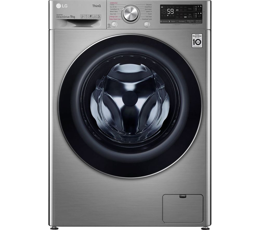 Image of LG EZDispense TurboWash with AI DD V7 F4V709STSA WiFi-enabled 9 kg 1400 Spin Washing Machine - Graphite, Graphite
