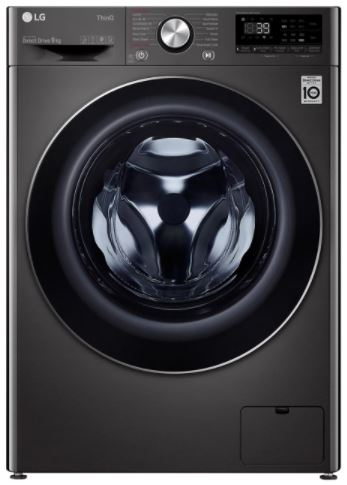 Image of LG F6V1009BTSE 9Kg Washing Machine - Black Steel
