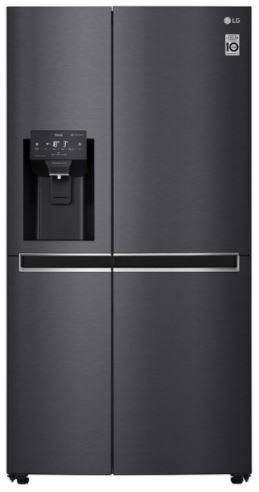 Image of LG GSL760MCKV American-Style Smart Fridge Freezer - Black, Black