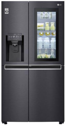 Image of LG GSX960MCCZ American-Style Smart Fridge Freezer - Black, Black