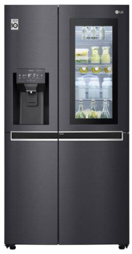 Image of LG InstaView™ Door-in-Door™ GSX961MCCZ Wifi Connected American Fridge Freezer - Matte Black