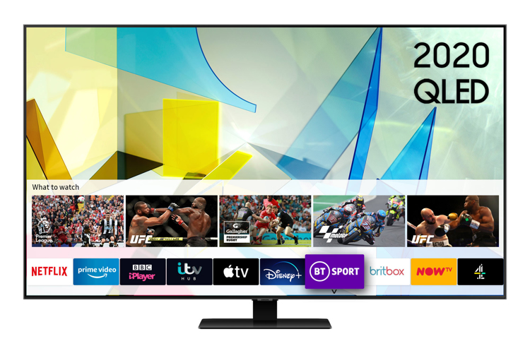Image of QE49Q80T (2020) 49 inch QLED 4K HDR 1500 Smart TV with Tizen OS