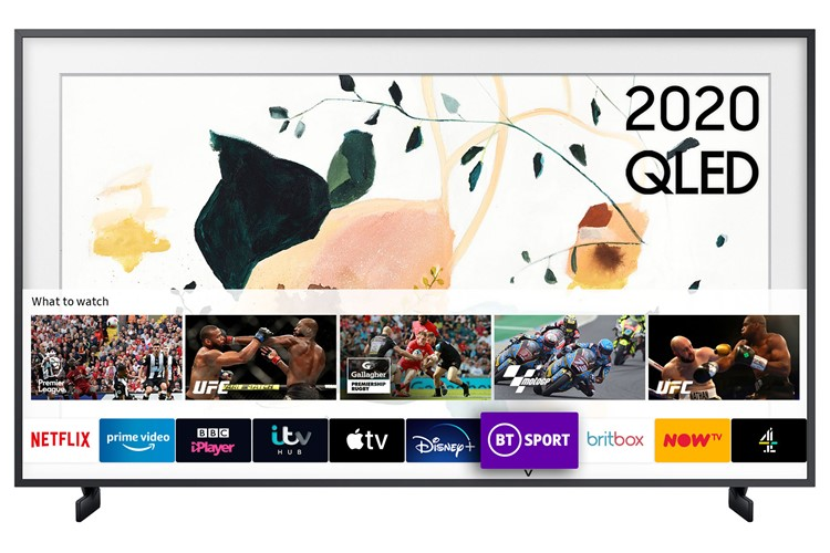 Image of QE65LS03T The Frame (2020) 65 inch 4K Art Mode QLED Frame TV with Tizen OS