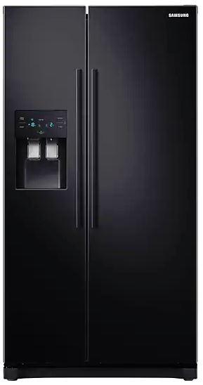 Image of SAMSUNG RS3000 RS50N3513BC/EU American-Style Fridge Freezer - Black, Black