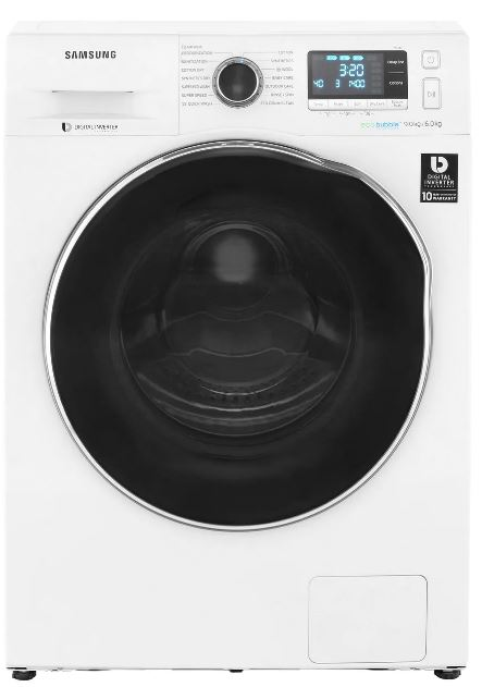 Image of Samsung WD90J6A10AW Washer Dryer With Ecobubble, 9Kg