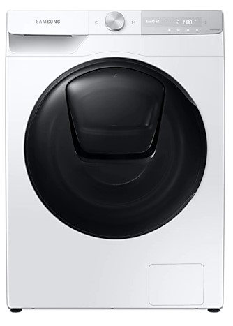 Image of SAMSUNG QuickDrive WW80T854DBH/S1 WiFi-enabled 8 kg 1400 Spin Washing Machine - White, White